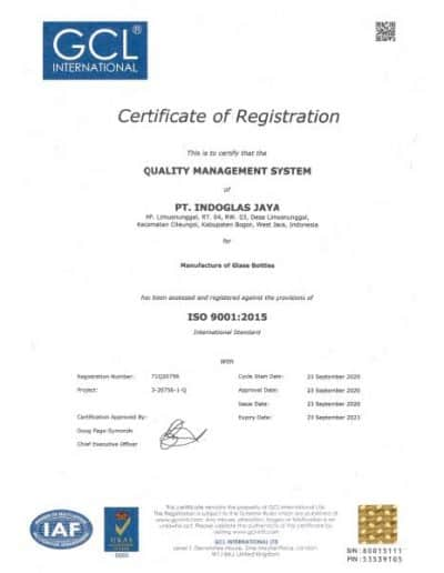 ISO 9001:2015 Quality Management System