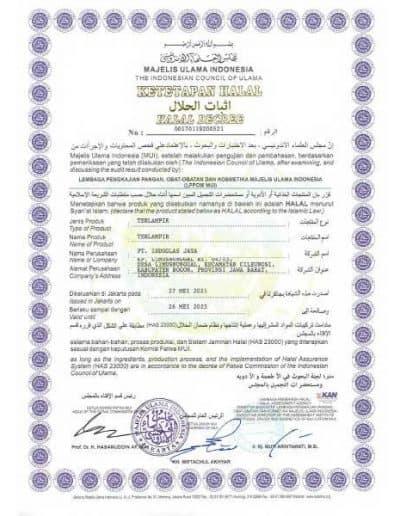 Ketetapan Halal MUI Indoglas Jaya